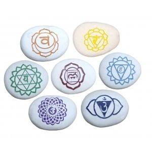 Set van 7 Chakra stenen