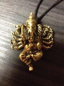 Hanger 'Ganesha 10 armen'  brons 4cm