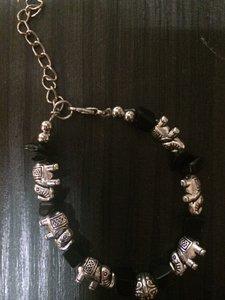 Armband Olifantjes met onyx