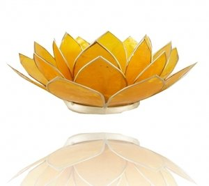 Waxinelichthouder 'Chakra' 3 geel