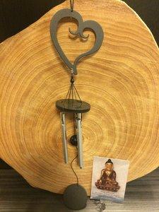 Windgong Hart zwart 35cm