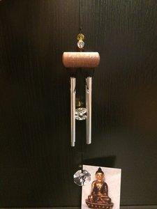Windgong kristal amber 27cm