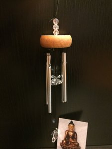 Windgong kristal helder 27cm