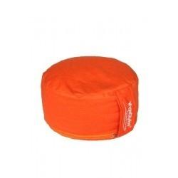 Meditatiekussen Chakra 2 effen oranje  33x15cm