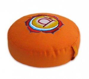 Meditatiekussen Chakra 2 Swadhishthana oranje 33x15cm