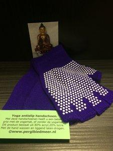 Yoga antislip handschoen paars