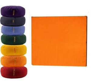 Meditatiemat Oranje 65x65x5cm.