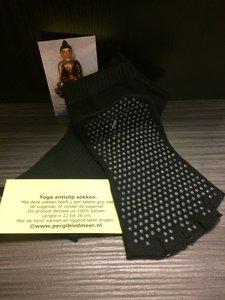 Yoga antislip sokken zwart