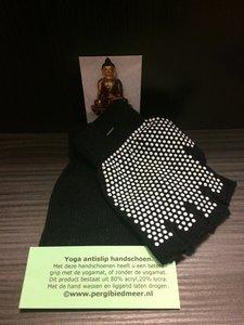 Yoga antislip handschoen zwart