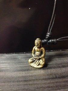 Hanger 'Boeddha Japans' brons 2,5cm