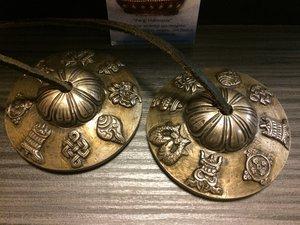 Tingsha's superieure klank 8 voorspoedsymbolen 7,7 cm