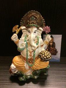 Ganesha zittend kleur