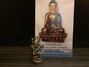Ganesha 'dansend' brons 3,5cm