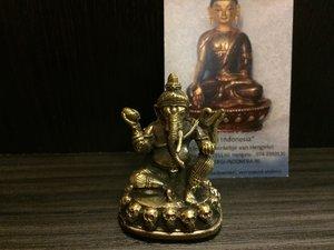 Ganesha 'zittend' brons 5cm