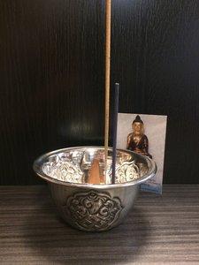 Wierookbrander Tibetaans offerschaaltje.