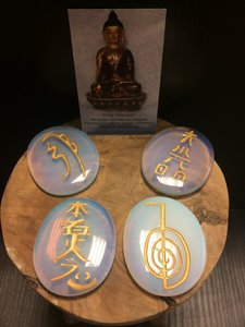 Reiki symbolen set Opaliet
