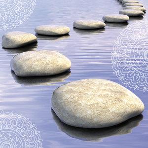 Blanco - stenenpad