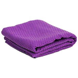 Yoga handdoek - siliconen antislip - paars