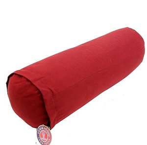 Yoga bolster rood