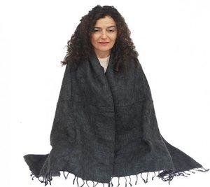 Meditatie omslagdoek grijs
