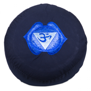 Meditatiekussen Chakra 6 Ajna geborduurd 33x15cm