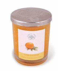Citrus Cedar - geurkaars 200 gram