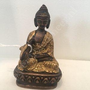 Ratnasambhava Boeddha Dhyani brons  8cm
