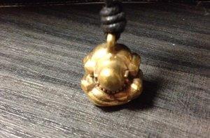 Hanger 'Yogi man' brons 1,5cm