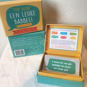 Tijd voor een leuke babbel praatkaarten