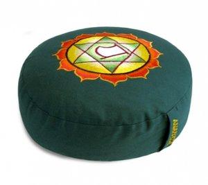 Meditatiekussen Chakra 4 Anahata groen 33x15cm