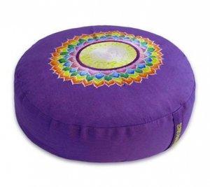 Meditatiekussen Chakra 7 Sahasrara violet paars 33x15cm