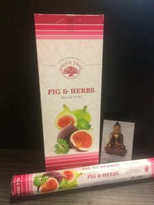 Fig & herbs wierook - hexagram
