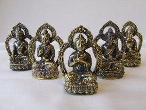 Dhyani boeddha serie 4,5cm (mini, brons)