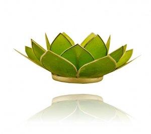Waxinelichthouder 'Chakra' 4 groen