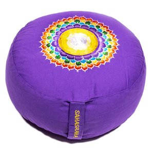 7de Chakra meditatiekussen paars Kruin/Sahasrara  33x15cm