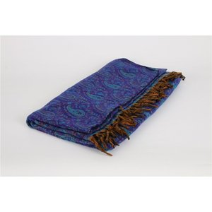 Yogastyles meditatie omslagdoek bewerkt blauw/paars