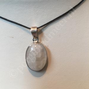 Zilveren hanger Maansteen edelsteen eenvoudig