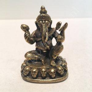 Ganesha zittend brons 5cm