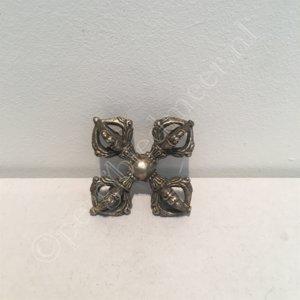 Dubbele Dorje klein brons zilverkleur