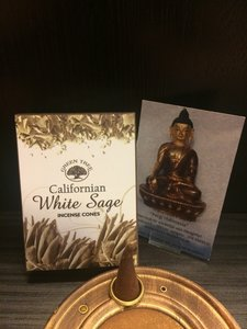 White Sage, witte salie wierookkegels green tree