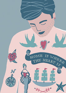 Postcard - Home is....