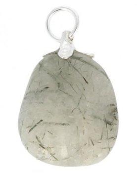 Bergkristal met groene toermalijn