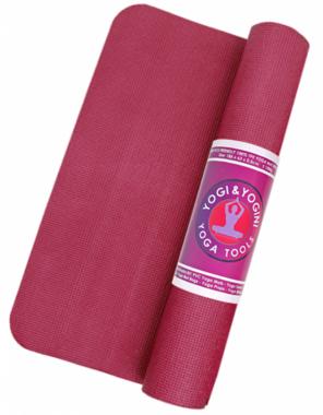 Yogi & Yogini yogamat  - diep roze - 'sticky'