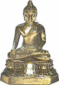 Boeddha 'geaardheid' brons 6,2cm