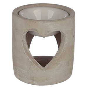oliebrander betonlook hartvorm grijs