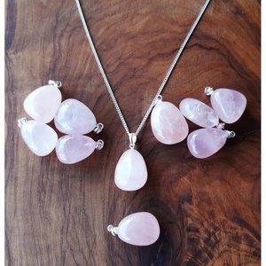 rozenkwarts edelsteen hanger
