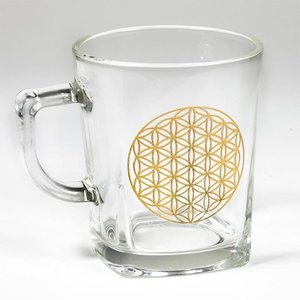 Levensbloem glas