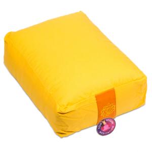 yoga bolster rechthoekig geel