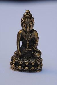 Boeddha geaardheid brons 3,7 cm