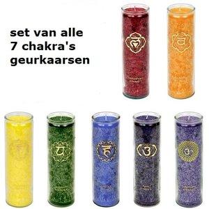 set van alle 7 chakra kaarsen groot